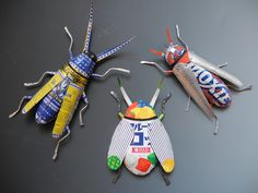 Tin Beetle Trio  by Maine based artist TJ McDermott www.tjmcdermott.com