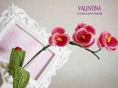 Tutorial Orchidea Uncinetto Tunisino/ Crochet Orchid/DIY Orchid