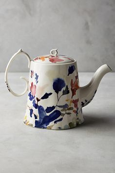 Wildflower Study Teapot - anthropologie.com