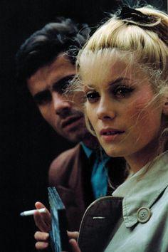 Nino Castelnuovo i Catherine Deneuve za kulisami Parasolki z Cherbourga (1964)