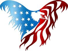 Custom Metal, Custom Paint, Hanging Wall Art, Metal Wall Art, Eagle Art, Metal Signs, Independence Day, Bald Eagle, Red And White