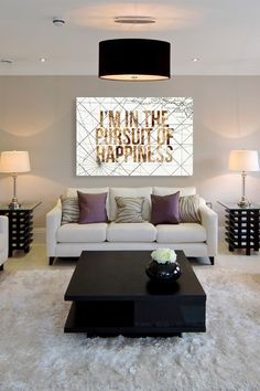 Oliver Gal Pursuit of Happiness Canvas Wall Art on HauteLook.  Love the wall color