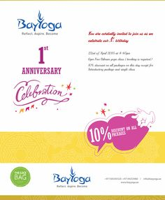 Join us on the 22nd of April as we turn One ! #yoga #bikramyoga #uae