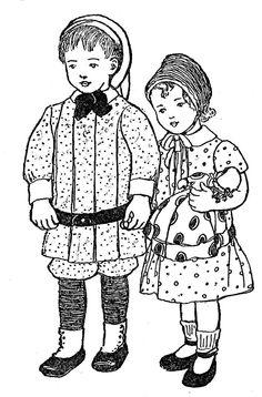 little boy & girl