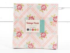 """Vintage Picnic Layer Cake, 42 - 10"""" Precut Fabric Quilt Squares By Bonnie & C..."""