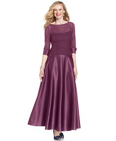 This is the same brand as the bridesmaids dress!  JS Collections Dress, Three-Quarter Sleeve Satin Skirt - Mother of the Bride Dresses - Women - Macy's