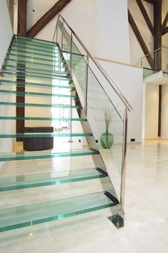 Glass stairs | Stairs-Elevators | Straight Stairs Glass TRE-073 ... Check it out on Architonic