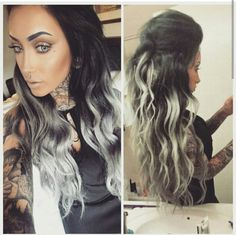 Silver Ombre' with Great Lengths Hair Extensions- Done by ...