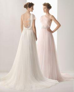 vestido de novia soft 110/ one shoulder soft wedding dress/ tulle wedding dress on Etsy, $289.00