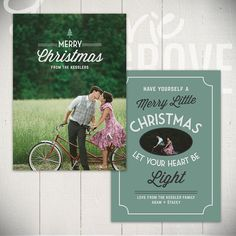 Christmas Card Template: Holiday Classic B - 5x7 Holiday Card Template for Photographers
