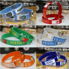 2014 FIFA WORLD CUP SOCCER BRACELET WRISTBAND ITALY SPAIN PORTUGAL DUTCH GERMANY