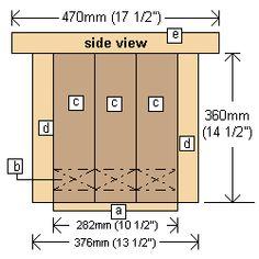 Planter box plans side elevation