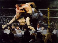 Stag at Sharkey's by George Bellows, 1909 CAN BE CALLED THE MOST ~ ICONIC~ PAINTING OF THIS GENRE