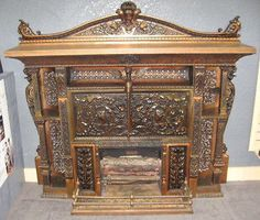 Antique Gas Fireplace Complete Circa 1886