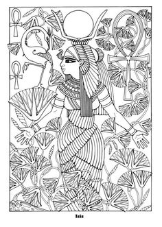 Ancient Egypt Coloring Pages Free Coloring Sheets, Printable Coloring Pages, Adult Coloring Pages, Colorful Drawings, Colorful Pictures, Colouring Pics, Coloring Books, Zentangle, Egypt Art