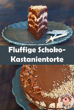 Schoko-Kastanientorte - * what bakes me smile * Food And Drink, Pudding, Sweets, Make It Yourself, Desserts, Recipes, Food Blogs, German, Cupcakes