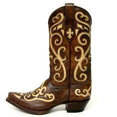Tony Lama Ladies Earth Santa Fe Boots