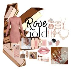 """""""Rose Gold what shuld the Next color bei?"""" by cutestyleee on Polyvore featuring Schönheit, Tartesia, LE VIAN, Allurez, Forever 21, Casetify, Stephen Webster, Lime Crime, Bulgari und Accessorize"""