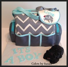 35c3f212bea 23 Scrumptious Diaper Bag Cakes for Baby Showers