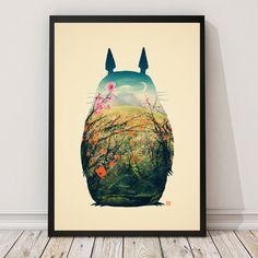 Poster Tonari Na Totoro Di Victors Beard