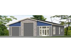"""These are PDF Plans available for Instant Download1 RV, big-rig, or bus garage + 1 car garage, with 2 bedroom 1 bath apartment, microwave over range, and under cabinet washer-dryer combo unit.Sq. Ft: 2,336 (746 living)Building size: 50'-0"""" wide (+10' porch), 48'-0"""" deepMain roof pitch: 3/12Ridge height: 19'Wall height: 16' & 12'Foundation: SlabLap siding, shakes siding & faux stone panelingFor the reverse plan, please see Model 6B.Plan includes:ElevationsExterior / Interior Dimension PlanCeiling Rv Floor Plans, Basement Floor Plans, Shake Siding, Faux Stone Panels, Cabin House Plans, Floor Framing, Roof Pitch, Wood Plans"""