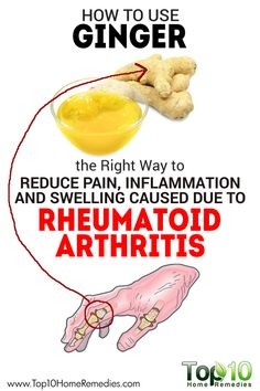 The Right Way to Use Ginger to Reduce Pain, Inflammation and Swelling Caused due to #Rheumatoid #Arthritis