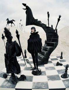check-mate: edie campbell by tim walker for vogue italia december 2015   visual optimism; fashion editorials, shows, campaigns & more!