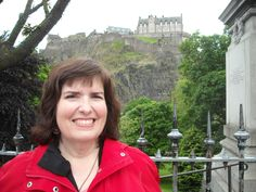 Another shot of me with Edinburgh Castle in the background.