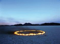 Circle of Fire in the Desert, 2002  Alfredo De Stefano