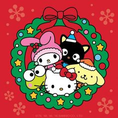 Are you making a list for the holidays and checking it twice? Hello Kitty Clipart, Hello Kitty Art, Hello Kitty My Melody, Hello Kitty Pictures, Hello Kitty Backgrounds, Hello Kitty Wallpaper, Hello Kitty Characters, Sanrio Characters, Sanrio Wallpaper