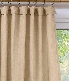 Bamboo Texture Rod Pocket Curtains