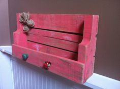 Blush Coral Distressed Painted Pallet by VintageHouseCreation, $30.00