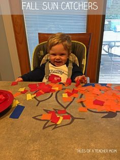 Please follow and like us:I wanted to make sun catchers with Buddy this summer, but we never got around to it. A few weeks ago, it occurred to me that it would be really cute to make fall sun catchers. However, our October has been crazy, and we just didn't have time. This week, Buddy …