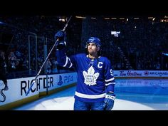 The starting lineups for the Maple Leafs are introduced and John Tavares is named captain before the puck drops on the first game of the season For t. Toronto Maple Leafs Wallpaper, John Tavares, Hockey News, Hockey World, Tim Hortons, New York Islanders, Ice Hockey, Perfect Man