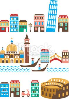 Italy Royalty Free Stock Vector Art Illustration