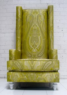 Paisley Mod Wing Chair