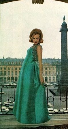 1963 Dior emerald green ball gown and beaded bolero jacket with <3 from JDzigner www.jdzigner.com
