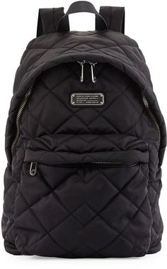 MARC by Marc Jacobs Crosby Quilted Nylon Backpack, Black