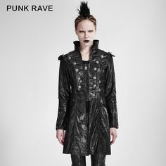Punk Rave military Uniform Streampunk Visual Kei Gothic Womens winter Clothes Ja