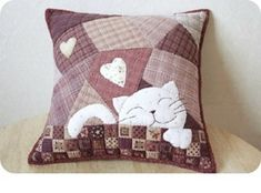 Patchwork sewing Entries in category Patchwork sewing needlework, . Sewing Pillows, Diy Pillows, Decorative Pillows, Cushions, Throw Pillows, Patchwork Pillow, Quilted Pillow, Crazy Quilting, Patch Quilt