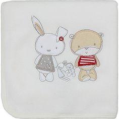 Manta Lepper Fleece Friends 5720401 Branca
