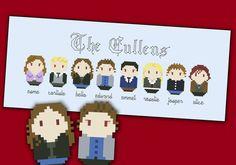 Twilight - The Cullens parody - Cross stitch PDF pattern