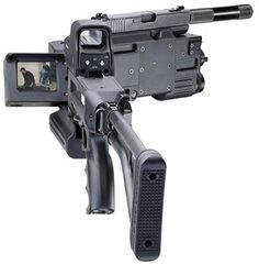New Weapon System shoots around corners! There is a version of this that is based on a Glock. Husband gift. Surveillance Equipment, Weapons, Target, Shots, Fire, Weapons Guns, Weapon, Guns, Target Audience