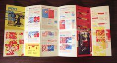 Layout Design, Print Design, Graphic Design, Brochure Folds, Pamphlet Design, Festival Flyer, Book Layout, Pictogram, Behance