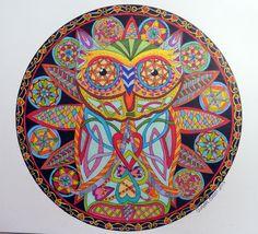 Ollie the Owl Mandalas Painting, Mandalas Drawing, Doodle, Mandala Design, Zentangle, Celtic, Pattern Design, My Arts, Behance