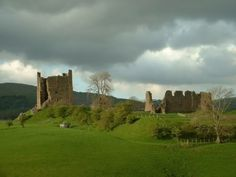 Brough Castle in Cumbria, England. First built in 1090 on an existing Roman fort and is open to the public