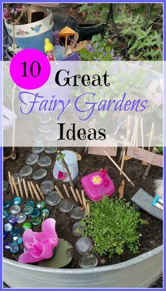 10 Great Fairy Garden Ideas from Mom on the Move