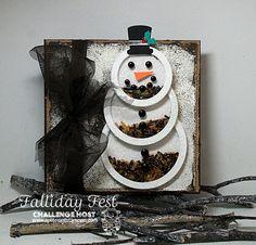Shaker Snowman ~ KelliJo