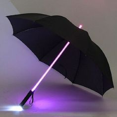 Find your way through the dark and rain with this handy LED Umbrella! Features: - On/Off Control Button - Light Mode: Steady Light or Flashing Light - Battery: AA x 3 (NOT Included) - 8 Ribs - Measure