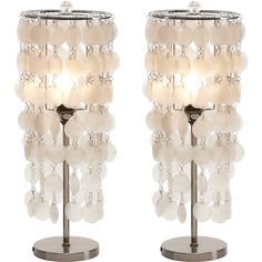 Sure we could buy the Darion accent lamps but what if we took wax paper shells and applied them to an inverted shade???